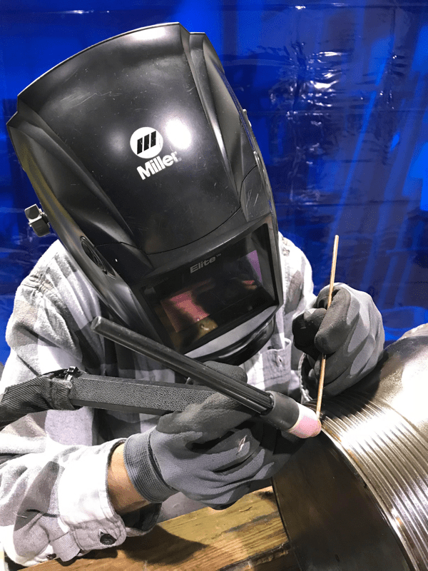 GTAW Tig Welding in process
